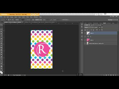 How to make a monogram phone screensaver wallpaper lock screen background Photoshop (DIY tutorial)