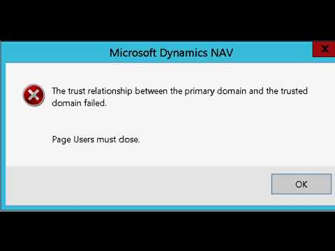 Fix : Trust relationship between two domains failed