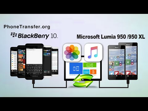 How to Restore Data from BlackBerry (OS 10) Backup to Microsoft Lumia 950/950 XL
