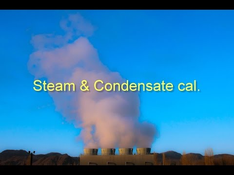 Steam and condensate calculation sheet