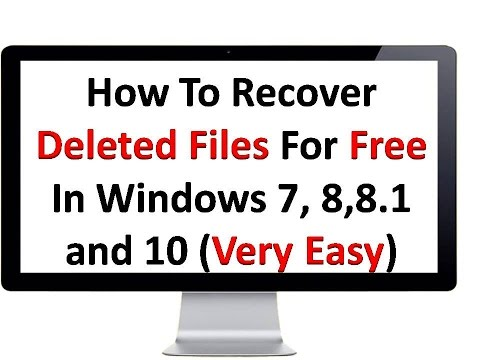 How To Recover Deleted/Corrupted Files For Free In Windows XP, 7, 8 and 10