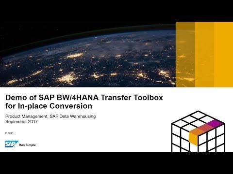 Demo of SAP BW/4HANA Transfer Toolbox Performing a Scope Transfer