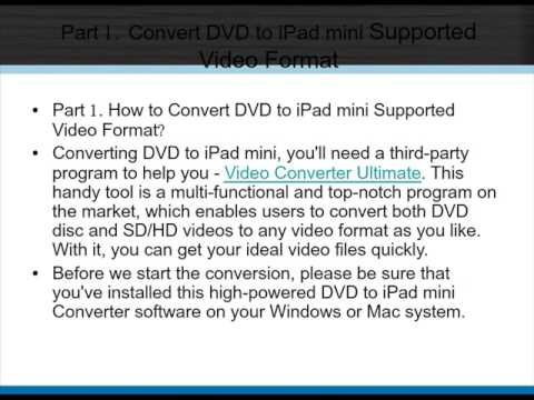 DVD to iPad mini   How to Convert and Transfer DVD Movies to iPad mini