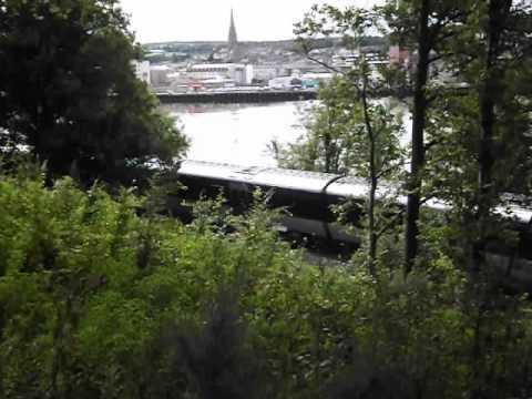 TRAIN LEAVING DERRY CITY