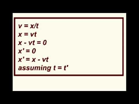Lorentz Transform Derivation  Dr  Dawes Video Tutor. YouTube.