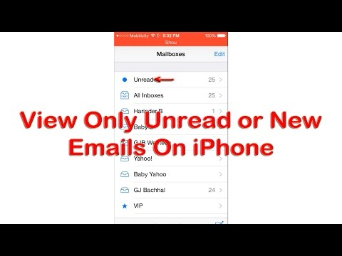 View Only New Unread Emails On iPhone