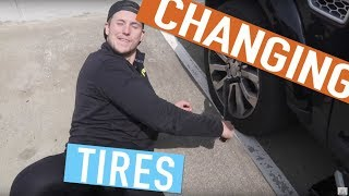 Changing a Tire for Dummies, by Dummies | Shawn & Andrew