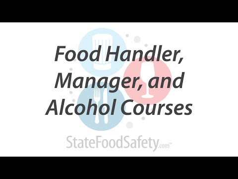 Food Handler, Manager, and Alcohol Courses