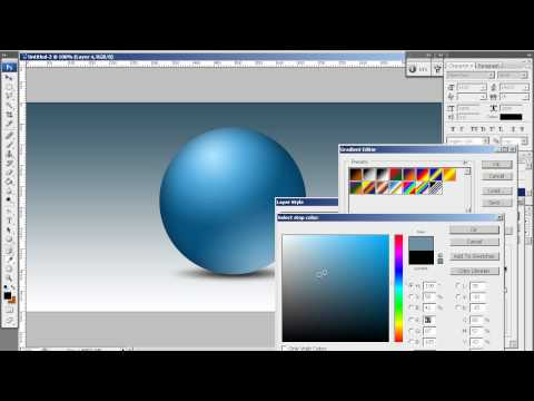3D Sphere In Photoshop (Realtime Video)