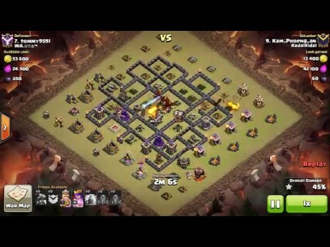 2 Lightning Spell Lvl 6 + 1 Earthquake = Air Defense Lvl 7 | NEW Strategy with Dragon Attack!