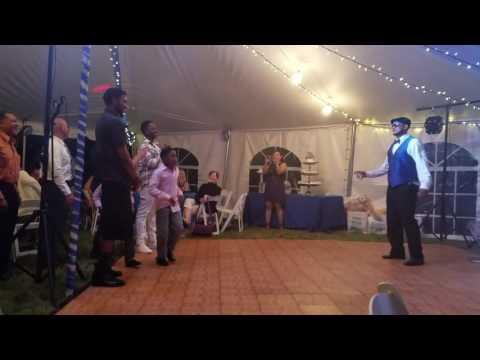Maurice and Sarah's wedding garter belt Dance Part 2