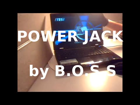 MSI A6200 _ Power Jack Repair by B.O.S.S. FIX Replace laptop power connector_Professional