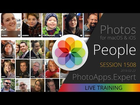Apple Photos; PEOPLE —PhotoApps.Expert Live Training 1508 SAMPLE