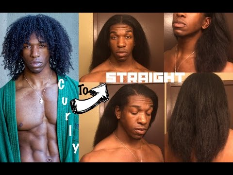 No Damage Natural Hair Straightening/Flat Ironing Routine (Male and Female)