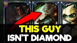 Placing a Bronze Riven Main in a Diamond Solo Q Game (YOU WILL NOT BELIEVE THIS)