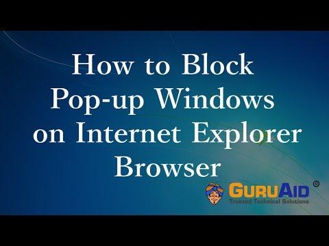 How to Block Pop-up Windows on Internet Explorer - GuruAid