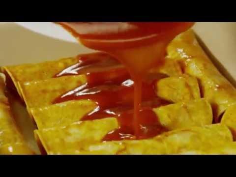 15 Seconds How to Make Chicken Red Enchiladas Video