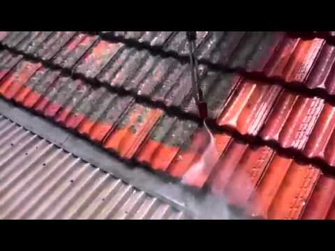 High pressure turbo clean roof tiles