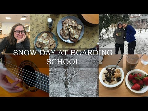 A DAY IN MY LIFE AT BOARDING SCHOOL | SNOW DAY