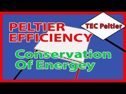 🎓 Peltiers efficiency:- Conservation of Energy. Part1