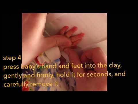 Baby hand and foot print photo frame kit