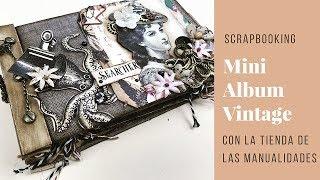 Scrapbooking. Tutorial Mini Album . Sorteo!!!