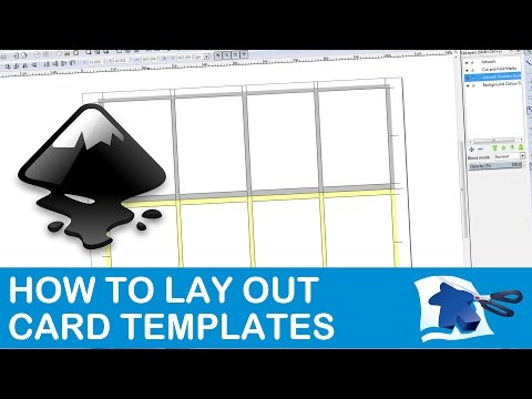 How to Lay Out a Card Template - Dining Table Print & Play