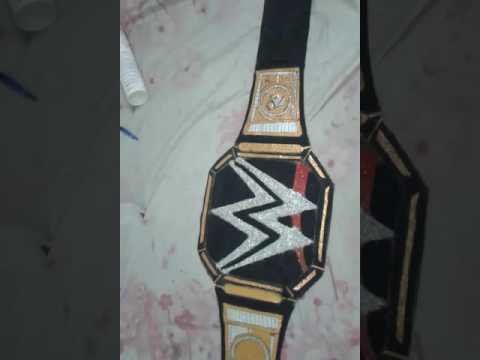 How to make a world champion ship belt made at home