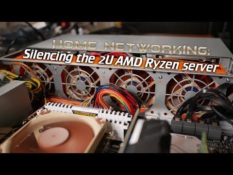 Home Networking: Silencing the 2U AMD Ryzen server (Noctua PWM mod)