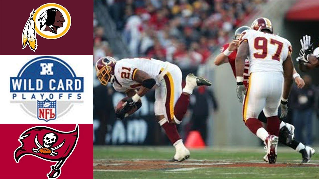 Redskins vs Buccaneers 2005 NFC Wild Card (Full Game)