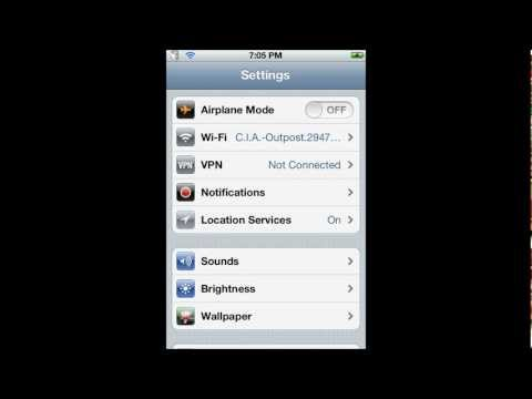 How to change your location on an iPod, iPhone, or iPad.