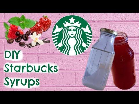 DIY Starbucks : 5 Syrups For Drinks