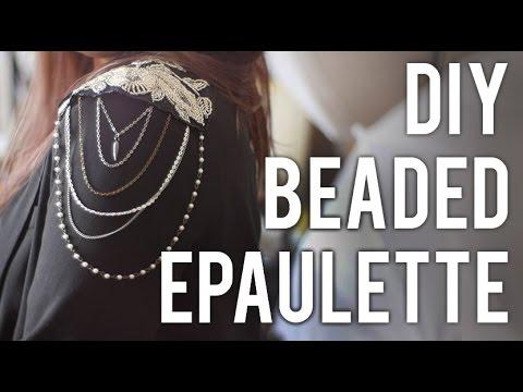 How to Make Beaded Epaulette : DIY