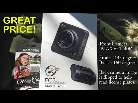O Rly FC2 - Front and Rear Dash Camera - Setup from Start to Finish - with Playback Demo