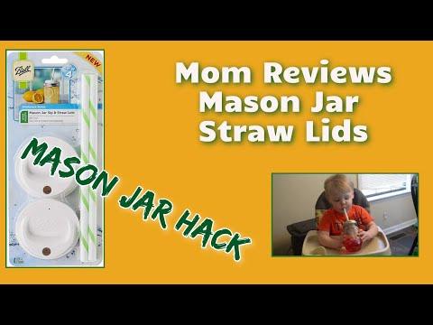 Mason Jar Straw Lid