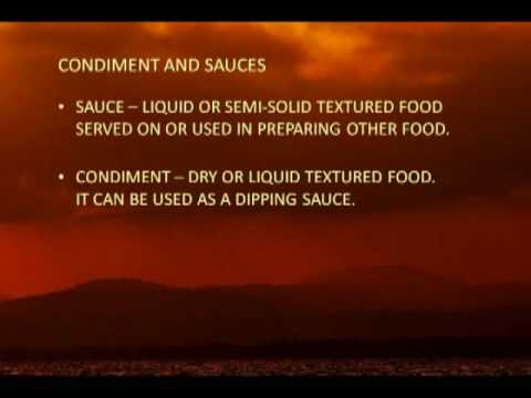 Chinese condiment, raw sauces, seasoning, and recipe