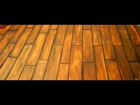 How to make a fake wooden floor for your dollhouse