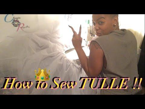 HOW TO SEW TULLE / Easy Mermaid Bottom !!