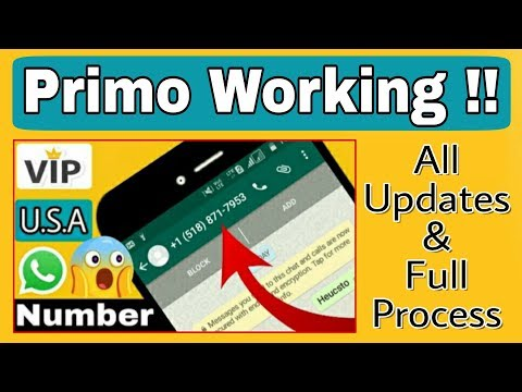 Primo App Working || Get U.S.A No. To Verify Whatsapp !!