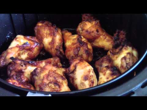 Air Fryer Honey BBQ wings drummettes SWEET BABY RAY'S cook's essentials