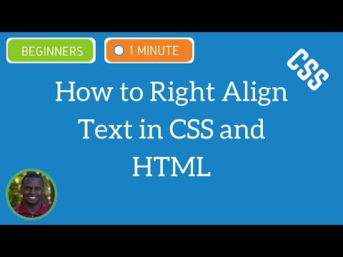 How to Right Align Text in CSS and HTML - CSS Tutorial