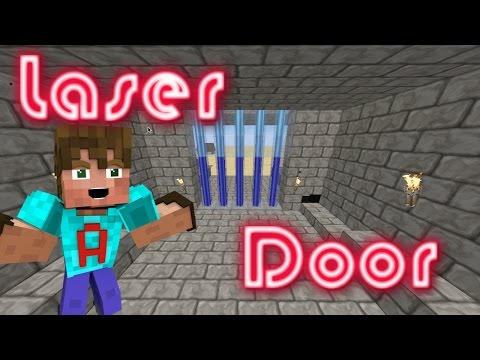 MINECRAFT | How To Make A Laser Door In Minecraft | Redstone Door | Lazer Door | Minecraft Tutorial