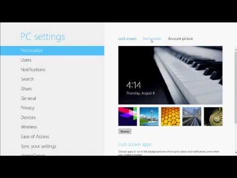 Windows 8: How to Change Start Screen Background Color