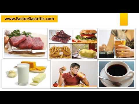 Lista de alimentos prohibidos para la gastritis