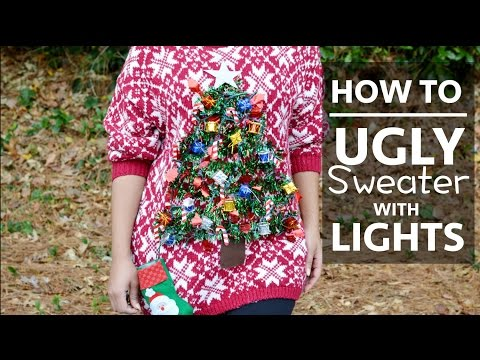 HOW TO/DIY: UGLY SWEATER WITH LIGHTS