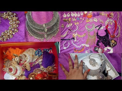 MY Jewelry collection & Storage & price starting 10rs [ indian jwelery collection 2018]