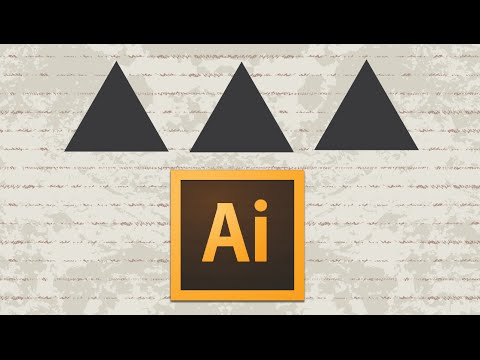 Adobe Illustrator Tutorial : How to make a triangle
