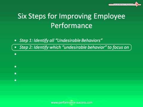 Employee Management:  Six Steps to Improving Employee Performance