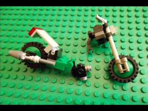 lego green chopper bike