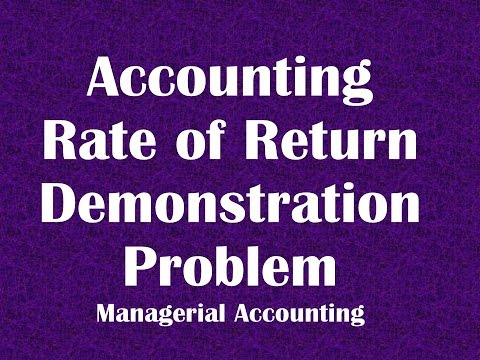 Accounting Rate of Return ARR Demonstration Problem